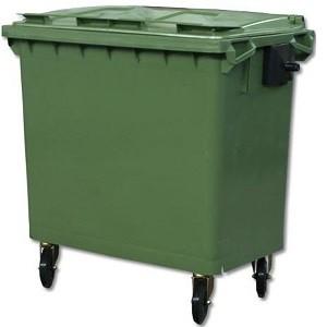 Мусорный пластиковый контейнер 770 литров (Германия)