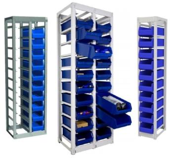 Стеллажи для пластиковых контейнеров серии СТК