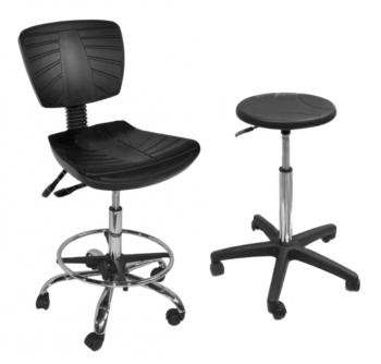 Табуреты, стулья промышленные и лабораторные